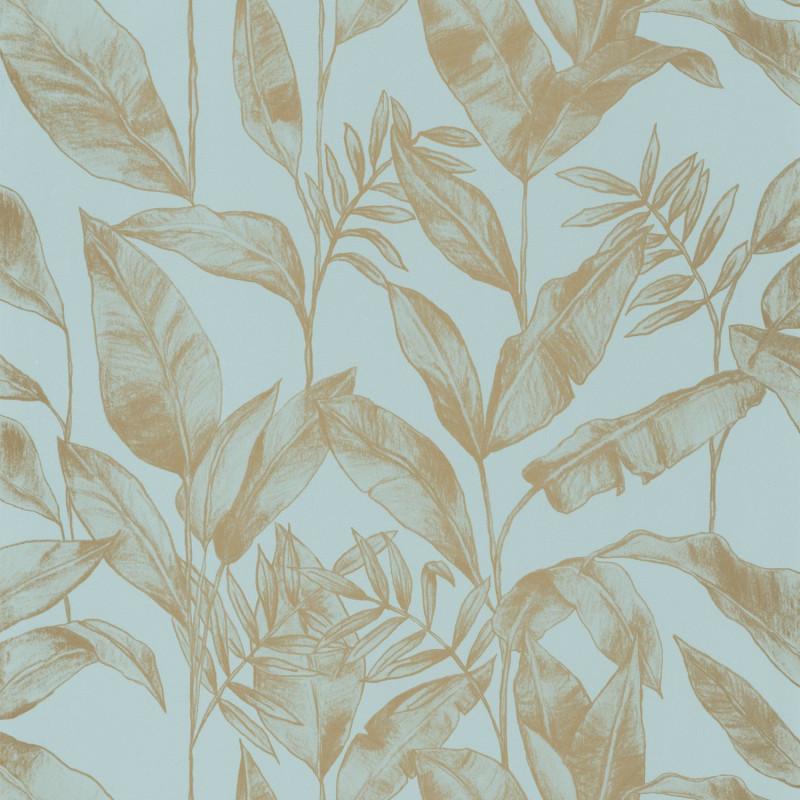 Papier peint Delicate smoke blue doré - ONLY BLUE - Caselio - ONB102636002