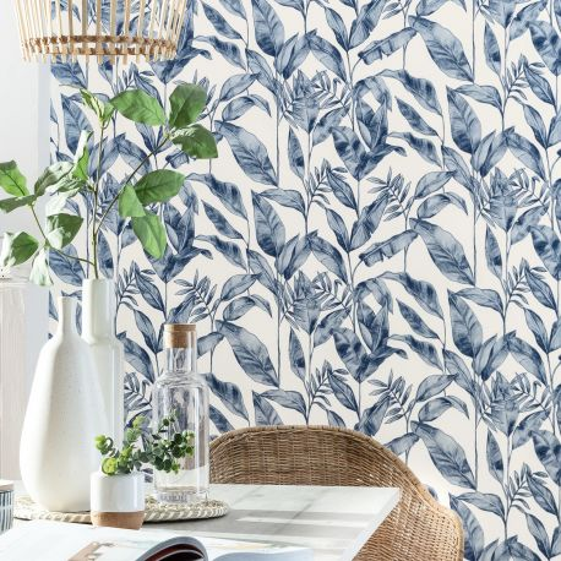 Papier peint Delicate midnight blue  - ONLY BLUE - Caselio - ONB102636225
