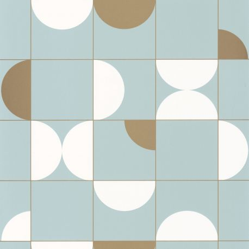 Papier peint Diabolo smoke blue doré - ONLY BLUE - Caselio - ONB102666028