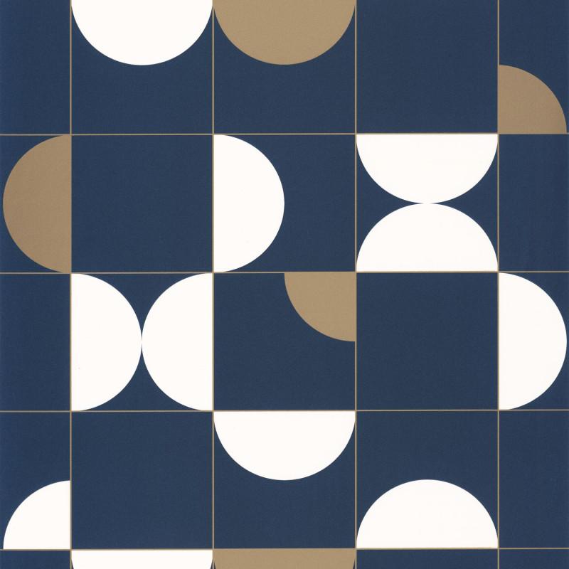 Papier peint Diabolo midnight blue doré - ONLY BLUE - Caselio - ONB102666225