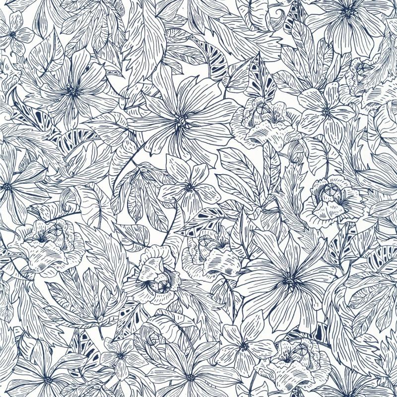 Papier peint Tropical Sun midnight blue - ONLY BLUE - Caselio - ONB102686205