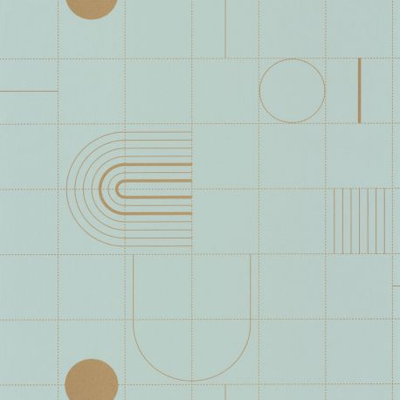 Papier peint Golden Curves midnight blue doré - ONLY BLUE - Caselio - ONB102706221