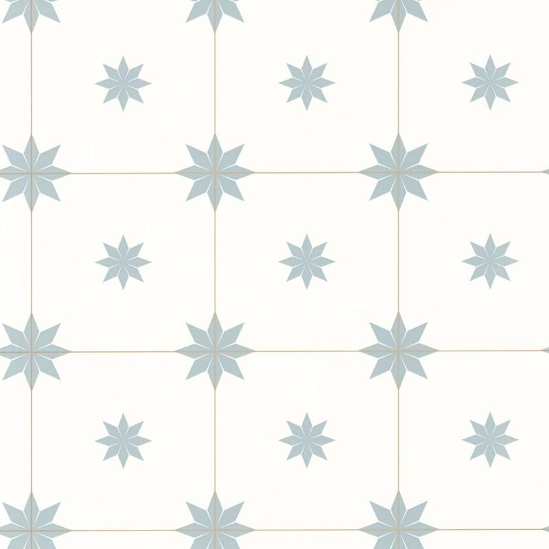 Papier peint Trendy Tiles smoke blue doré - ONLY BLUE - Caselio - ONB102716026