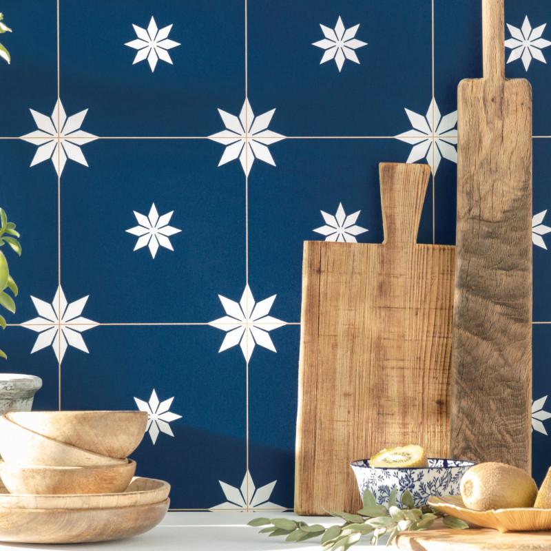 Papier peint Trendy Tiles midnight blue doré - ONLY BLUE - Caselio - ONB102716202