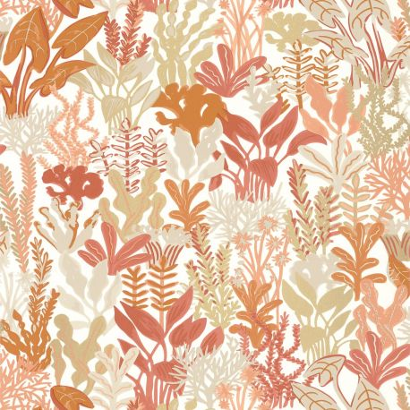Papier peint Can You Sea Me corail beige  - SEA YOU SOON - Caselio - SYO102753279