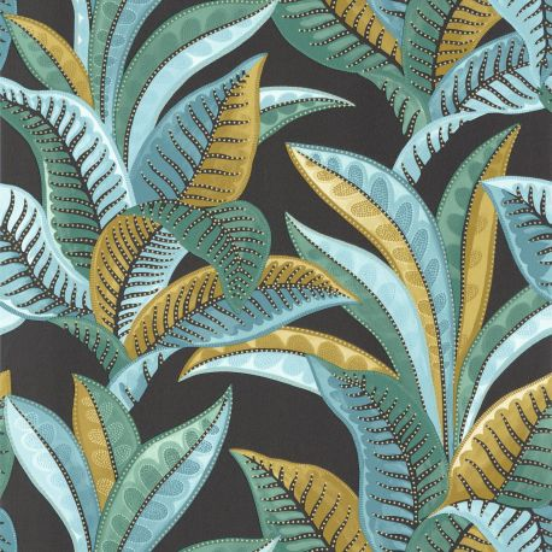 Papier peint Vitamin Sea noir bleu - SEA YOU SOON - Caselio - SYO102766792
