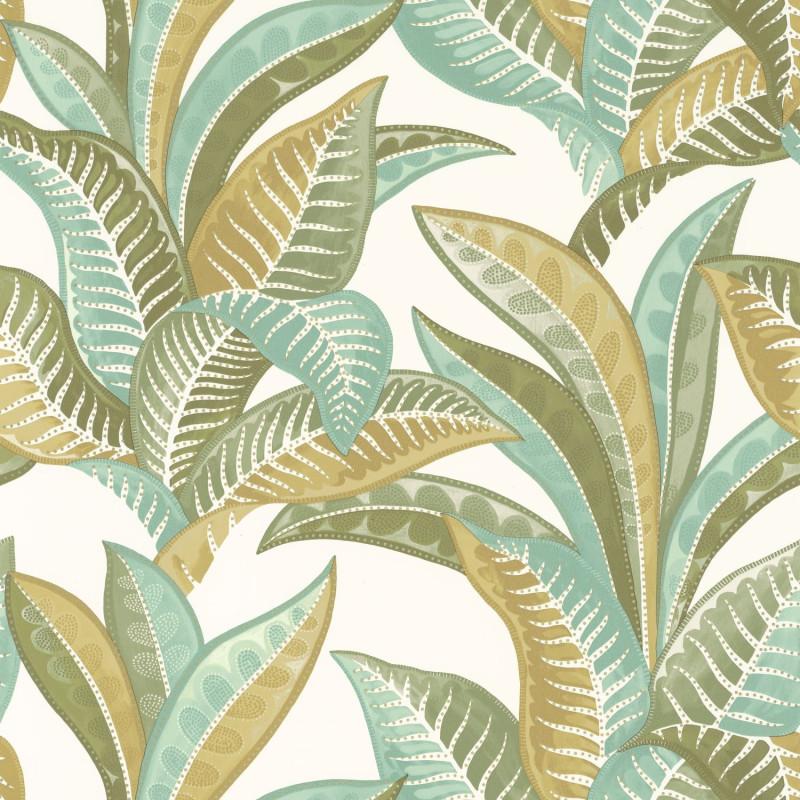Papier peint Vitamin Sea vert kaki - SEA YOU SOON - Caselio - SYO102767340