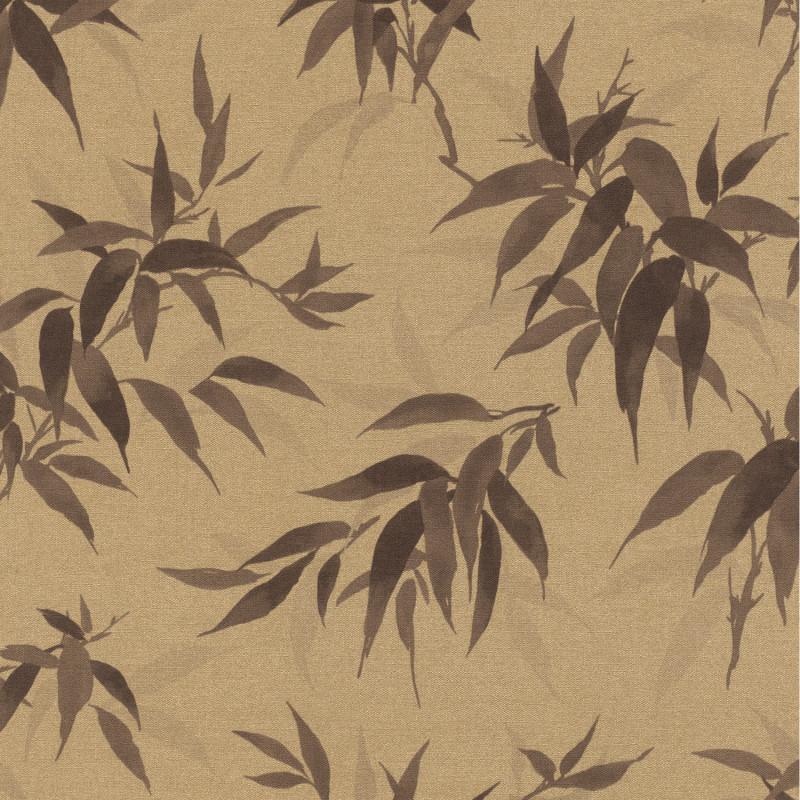 Papier peint Bambous marron fond beige - KIMONO - Rasch - 409765