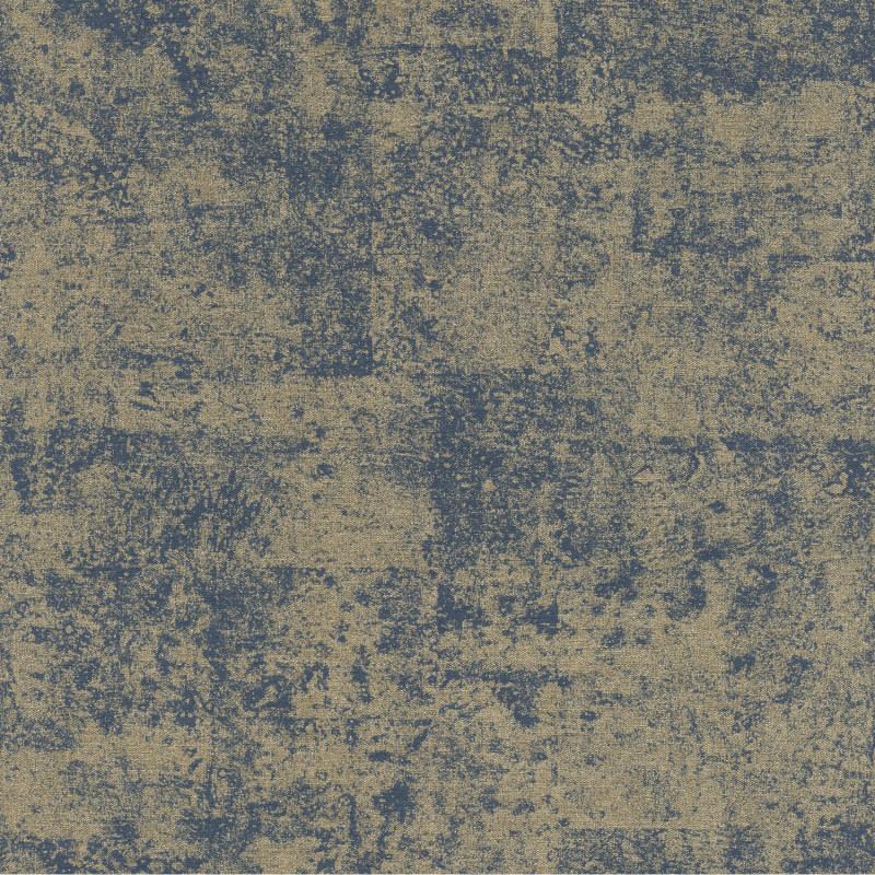 Papier peint Faux Uni Brillant bleu marine doré - KIMONO - Rasch - 410723