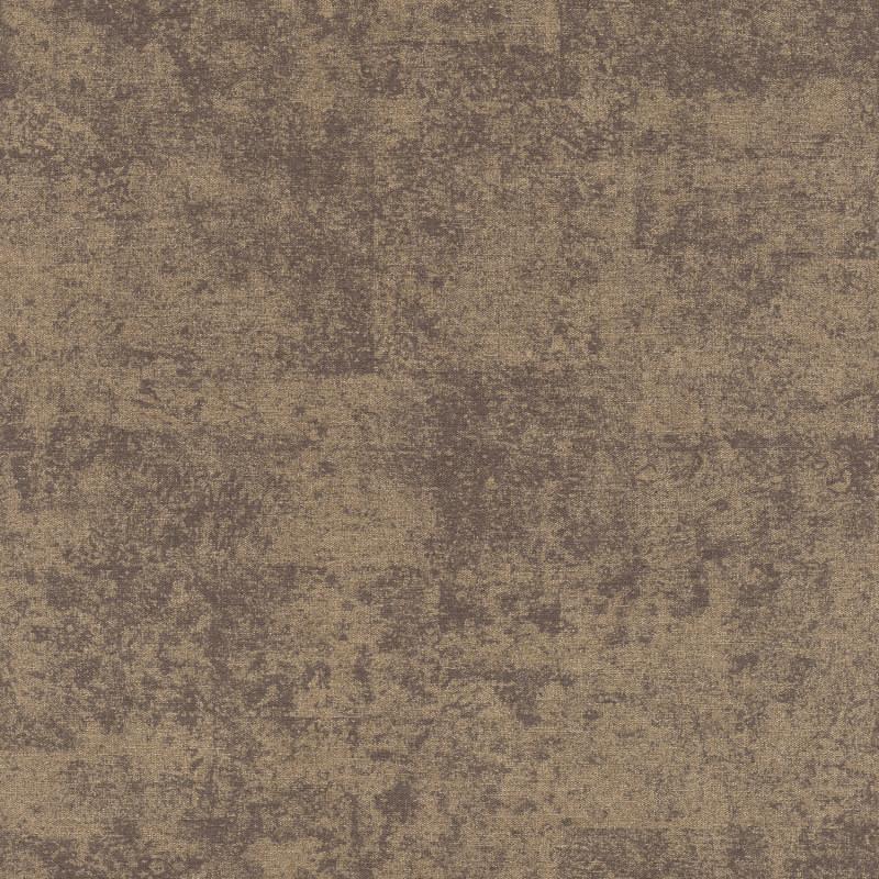 Papier peint Faux Uni Brillant marron doré - KIMONO - Rasch - 410730