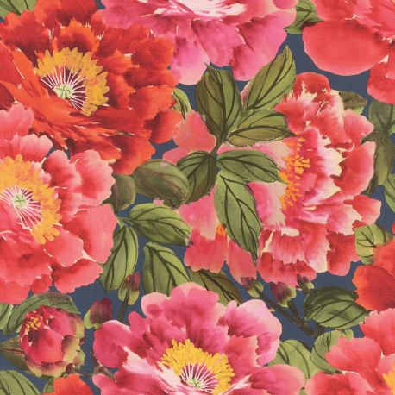 Papier peint Floraison fushia - KIMONO - Rasch - 408355