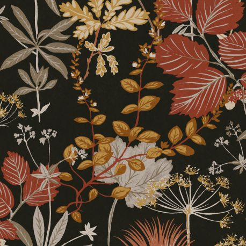 Papier peint Herbario Sierra - OLIVIA - Zoom by Masureel - OLI001
