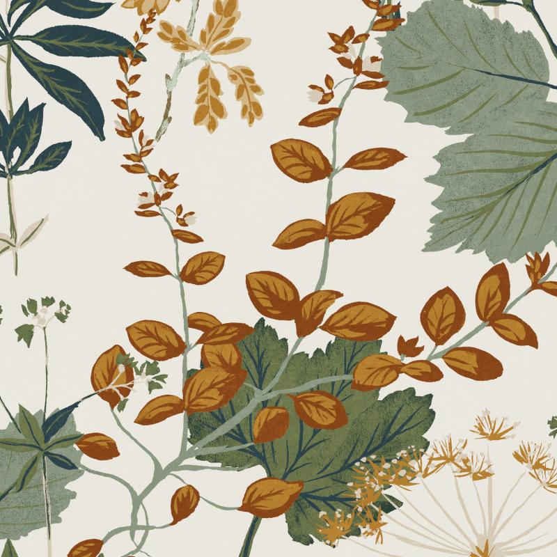 Papier peint Herbario Olive - OLIVIA - Zoom by Masureel - OLI003