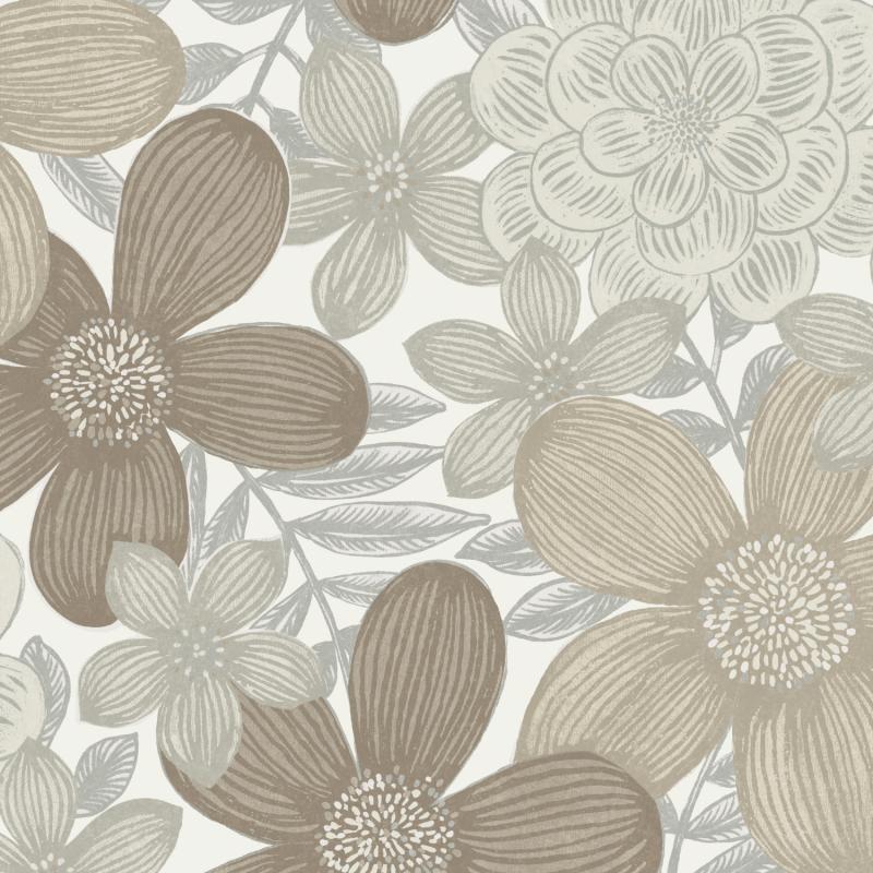 Papier peint Marigold Mastic - OLIVIA - Zoom by Masureel - OLI101