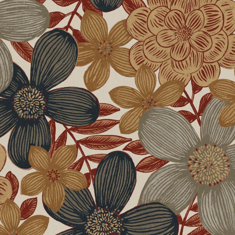 Papier peint Marigold Sierra - OLIVIA - Zoom by Masureel - OLI102
