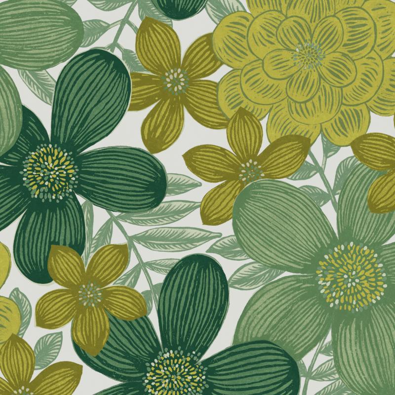 Papier peint Marigold Greenery - OLIVIA - Zoom by Masureel - OLI103