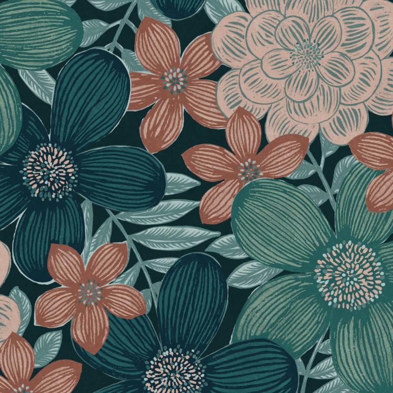 Papier peint Marigold Peony - OLIVIA - Zoom by Masureel - OLI104