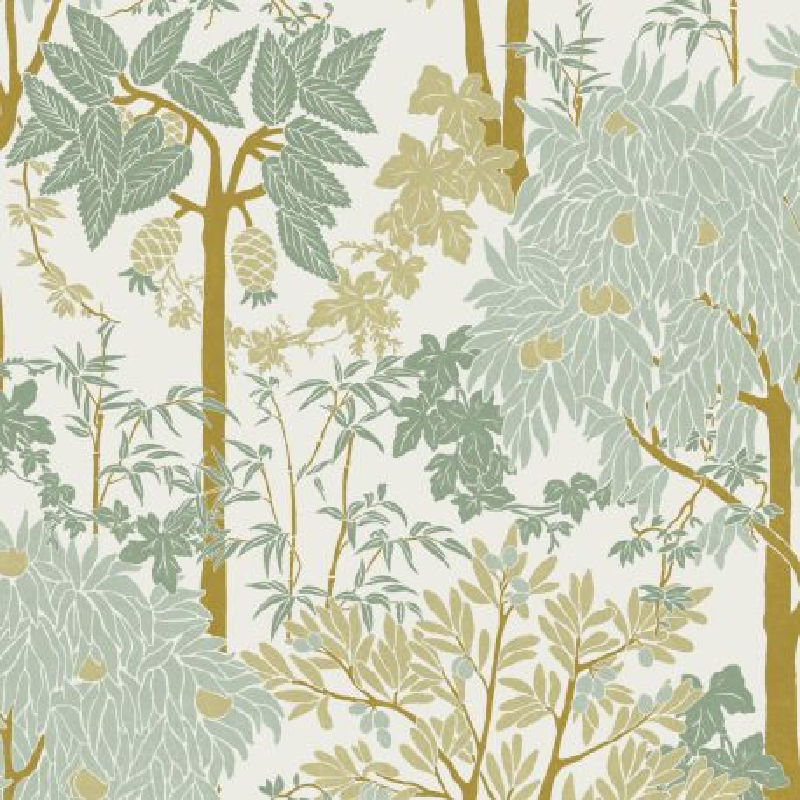 Papier peint Amazone Teal - OLIVIA - Zoom by Masureel - OLI204