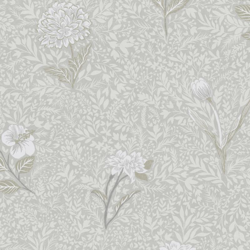 Papier peint Dahlia Snow - OLIVIA - Zoom by Masureel - OLI301