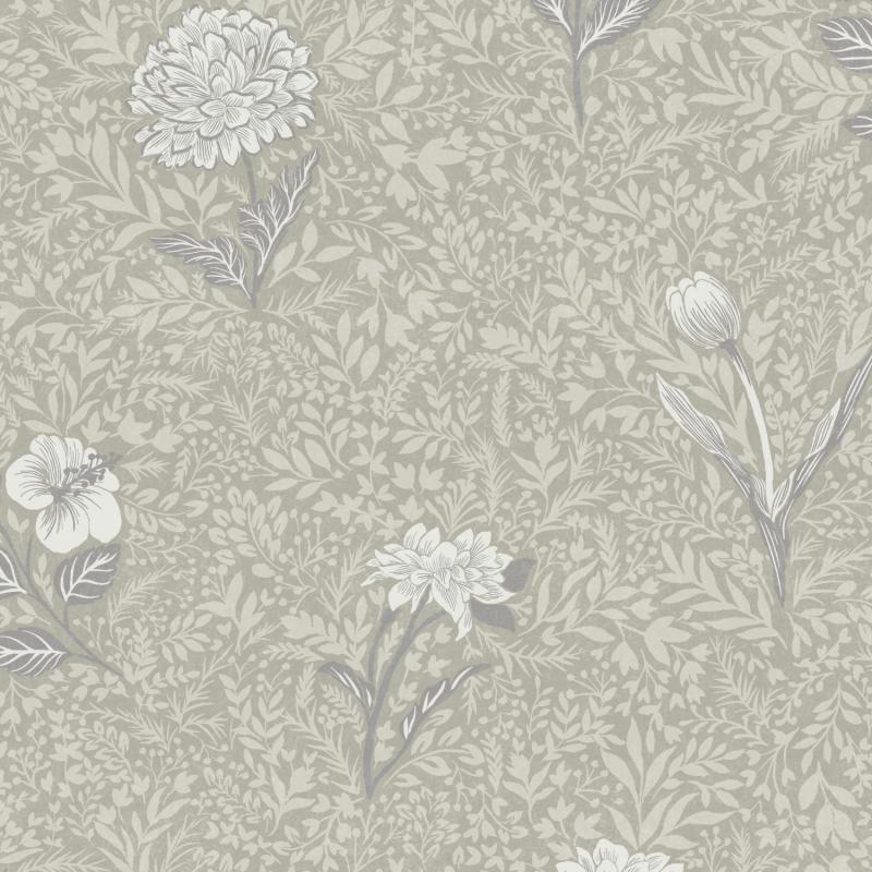 Papier peint Dahlia Mastic - OLIVIA - Zoom by Masureel - OLI302
