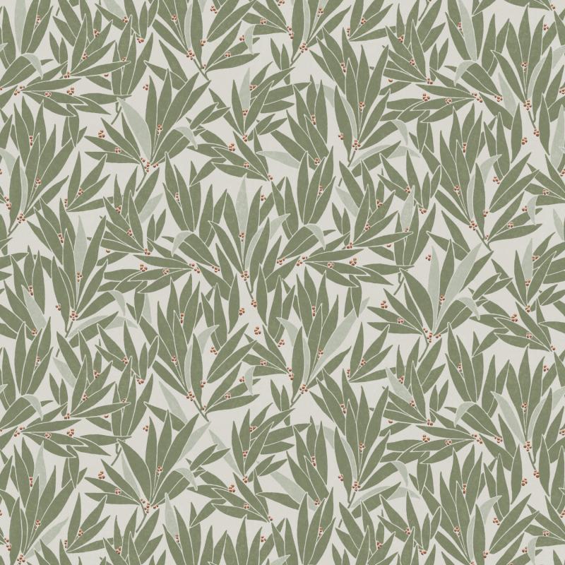 Papier peint Lauris Olive - OLIVIA - Zoom by Masureel - OLI403