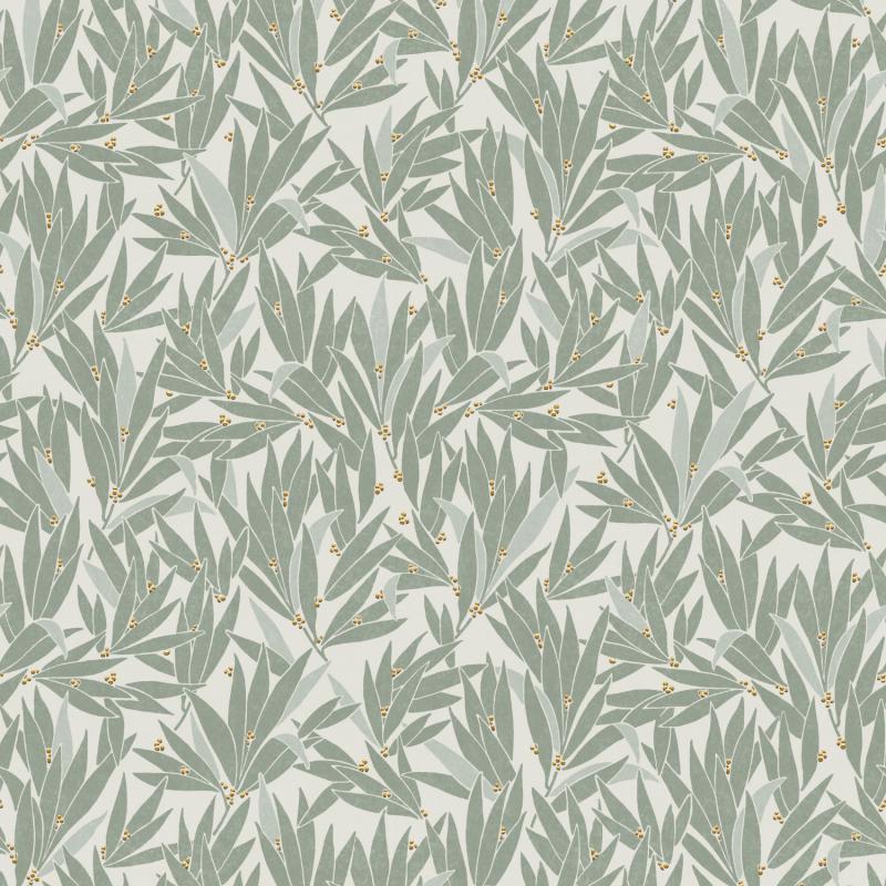 Papier peint Lauris Teal - OLIVIA - Zoom by Masureel - OLI405