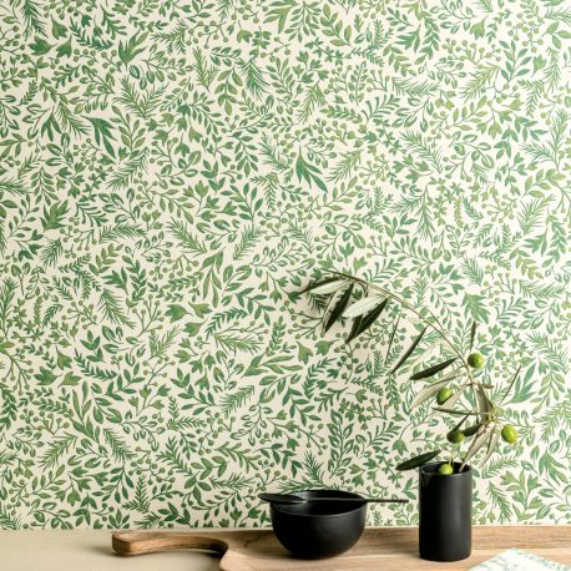 Papier peint Rio Greenery - OLIVIA - Zoom by Masureel - OLI506