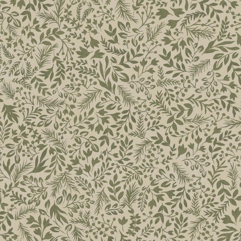 Papier peint Rio Olive - OLIVIA - Zoom by Masureel - OLI508