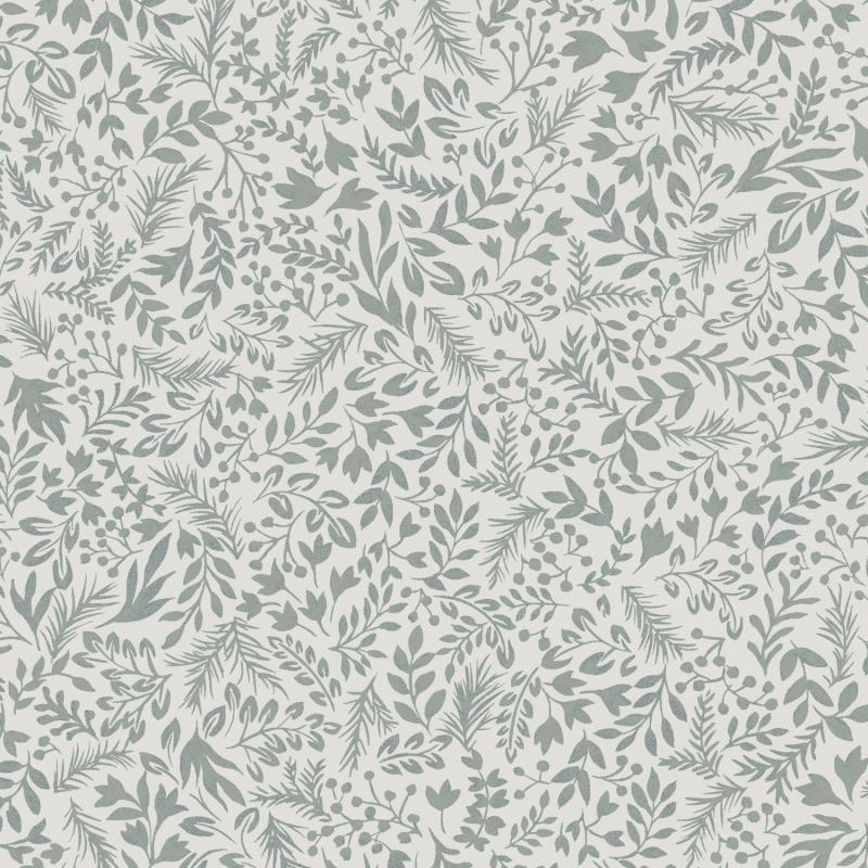 Papier peint Rio Teal - OLIVIA - Zoom by Masureel - OLI509