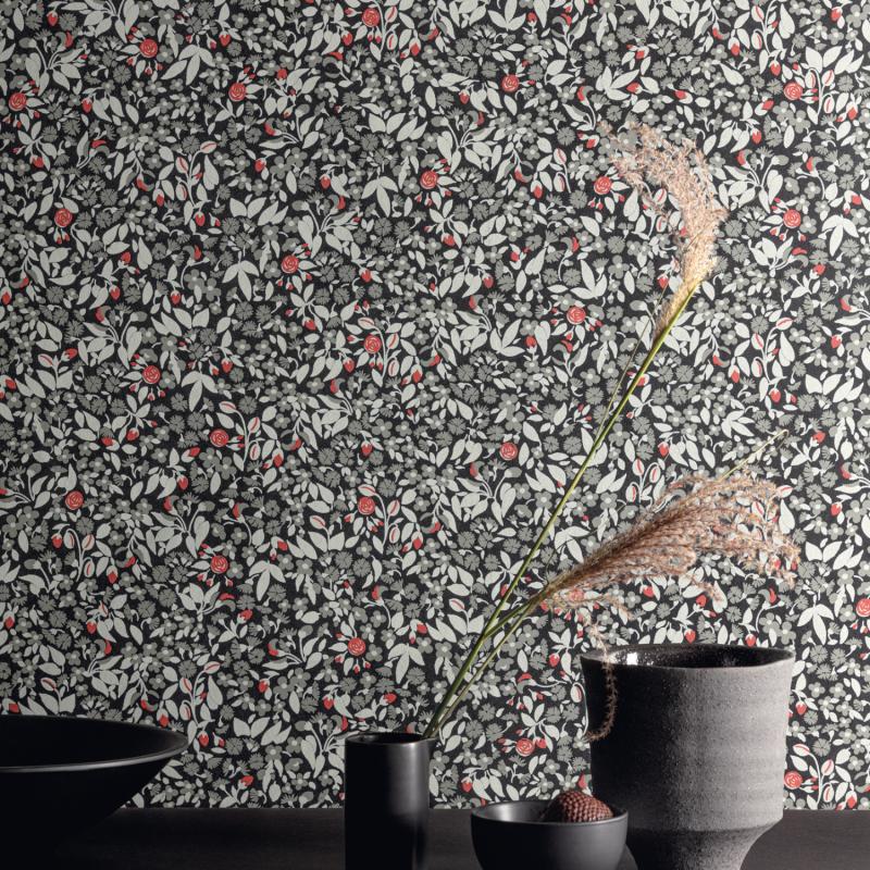 Papier peint Wildflower Dark - OLIVIA - Zoom by Masureel - OLI602