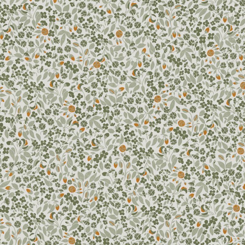 Papier peint Wildflower Olive - OLIVIA - Zoom by Masureel - OLI604