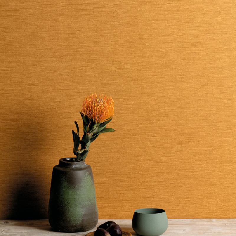 Papier peint Gini Ochre - OLIVIA - Zoom by Masureel - OLI705