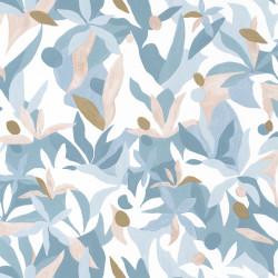 Papier peint Fauve bleu beige doré - IMAGINATION - Caselio - IMG102166020