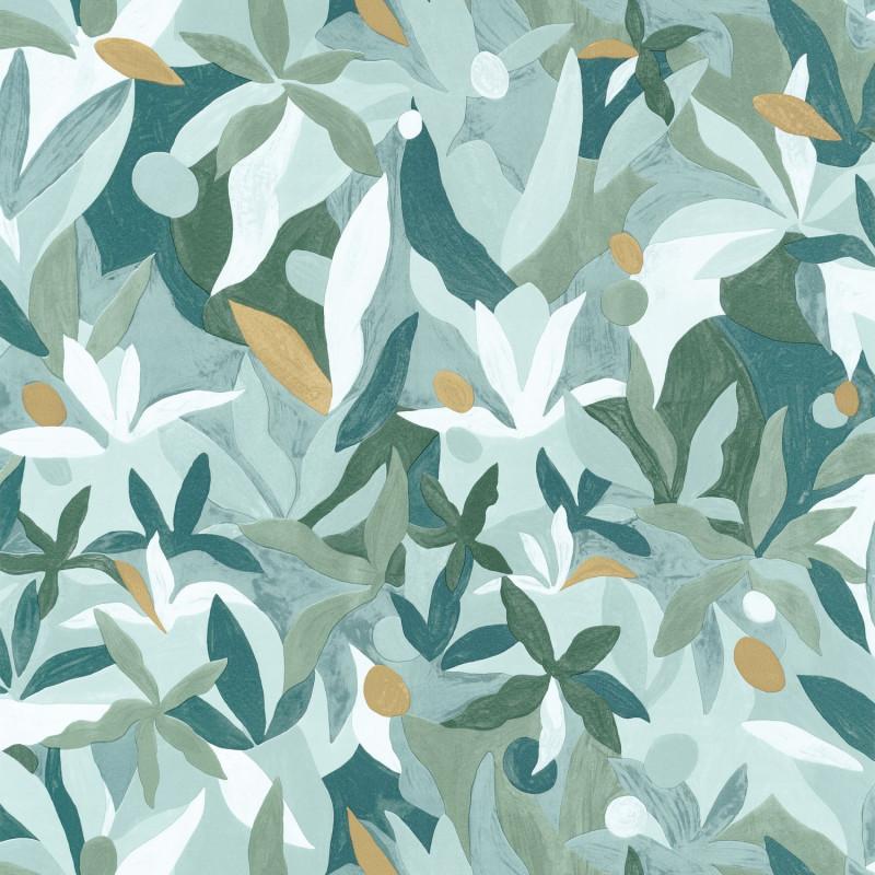 Papier peint Fauve vert émeraude doré - IMAGINATION - Caselio - IMG102167199