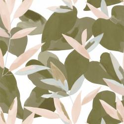 Papier peint Influence kaki beige doré - IMAGINATION - Caselio - IMG102157220