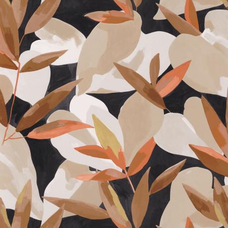 Papier peint Influence noisette saumon doré fond noir - IMAGINATION - Caselio - IMG102159023