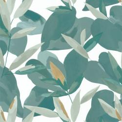 Papier peint Influence vert menthe doré - IMAGINATION - Caselio - IMG102157019
