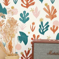 Papier peint Liberté terracotta rose doré - IMAGINATION - Caselio - IMG102173042