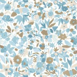 Papier peint Naiveté bleu beige doré - IMAGINATION - Caselio - IMG102196027