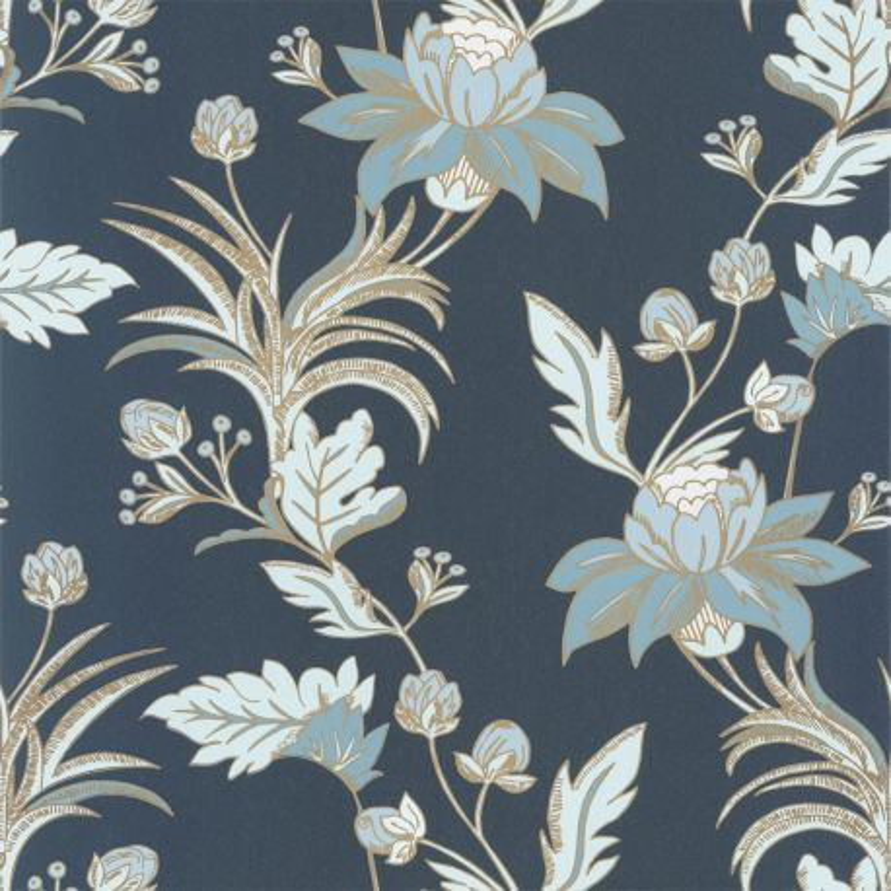 Papier peint Elegance bleu minuit doré - DREAM GARDEN - Caselio - DGN102276120