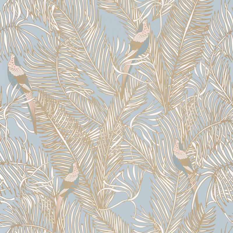 Papier peint Enchantment bleu fumée irisé doré - DREAM GARDEN - Caselio - DGN102256070