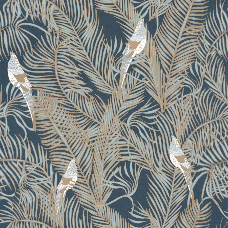 Papier peint Enchantment bleu minuit doré - DREAM GARDEN - Caselio - DGN102256122
