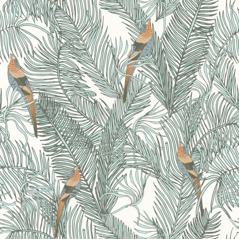 Papier peint Enchantment vert d'eau - DREAM GARDEN - Caselio - DGN102257070