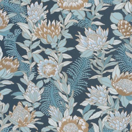Papier peint Fragrance bleu minuit doré - DREAM GARDEN - Caselio - DGN102246125