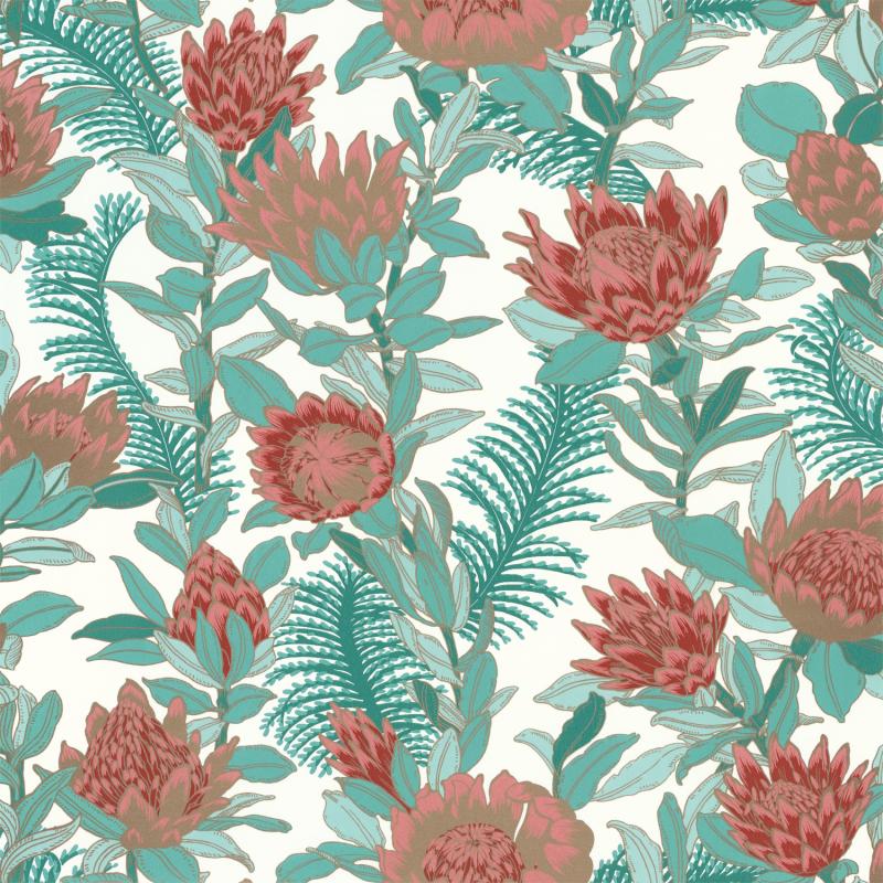 Papier peint Fragrance vert émeraude irisé - DREAM GARDEN - Caselio - DGN102247169
