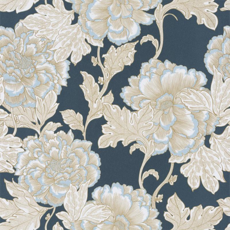 Papier peint Romance bleu minuit doré - DREAM GARDEN - Caselio - DGN102266126