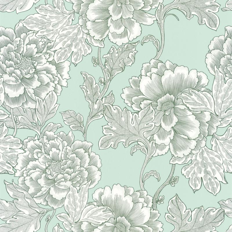 Papier peint Romance vert amande doré irisé - DREAM GARDEN - Caselio - DGN102267027