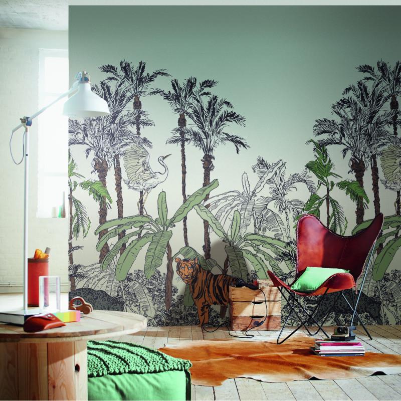 Panoramique La Jungle Enchantée multicouleurs - BEAUTY FULL IMAGE 2 - Caselio - BFM102433296
