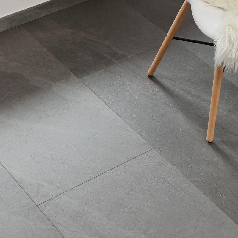 """Dalle céramique clipsable """"Katla 50CERA0495B"""" gris foncé - Ceratouch - CORETEC"""