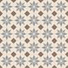 Sol PVC - Scottsdale 196L carreaux de ciment étoile beige - Optima Retro-Tex BEAUFLOR - rouleau 4M